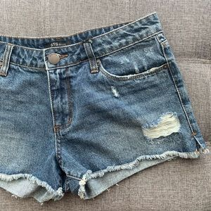 STS Blue Distressed Jean Shorts.